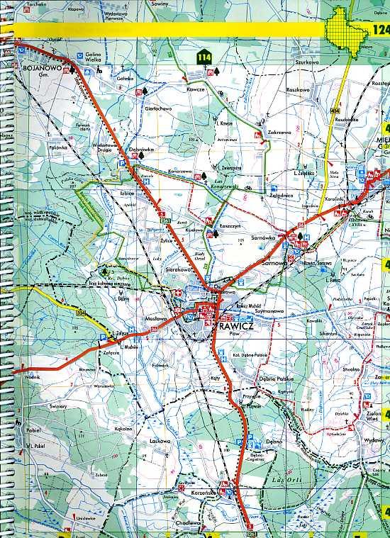 strona z atlasu Wielkopolski