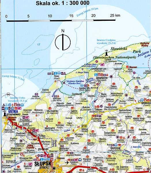 Czytelna mapa Wybrzeza Bałtyku