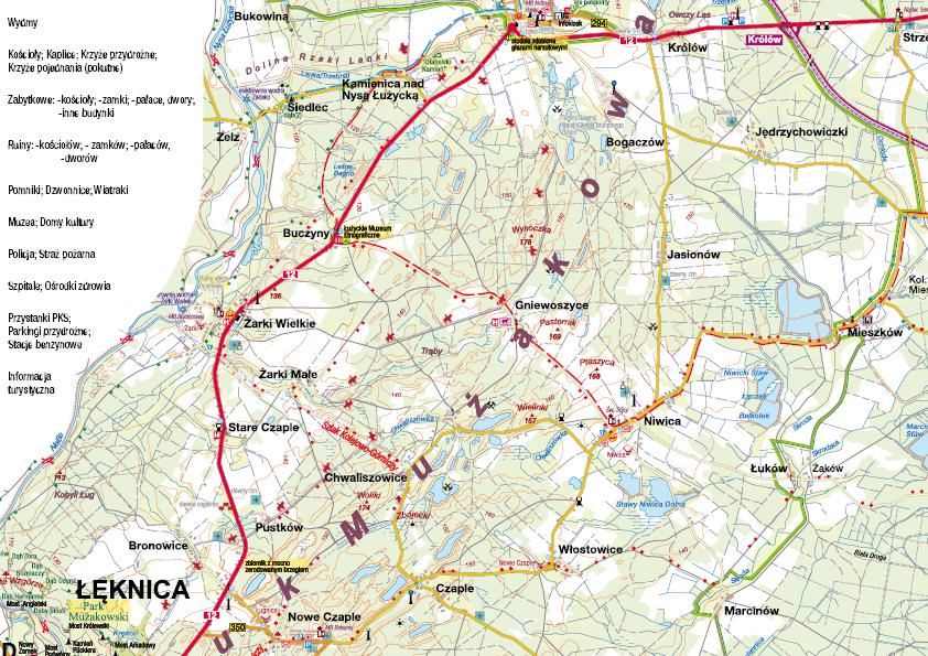 fragmant mapy Łuk Mużakowa