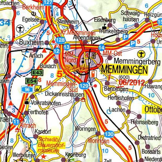 bardzo czytelna mapa samochodowa Austrii