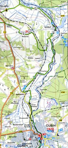 mapa Beeskow-Sulęcin