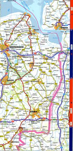 mapa samochodowa Beneluxu laminowana