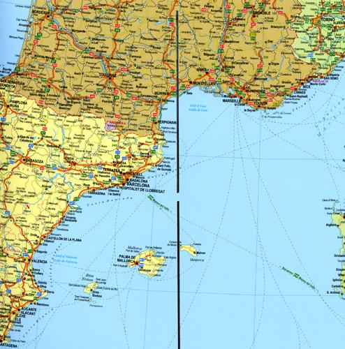 mapa samochodowa europy laminowana