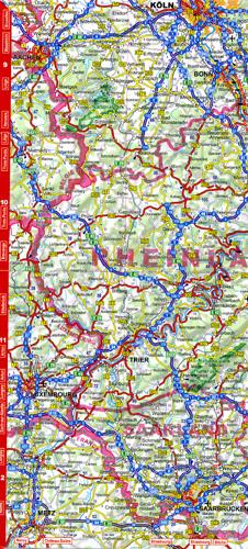 mapa samochodowa NIEMIEC LAMINOWANA