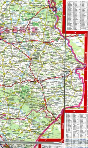 mapa samochodowa Polski laminowana