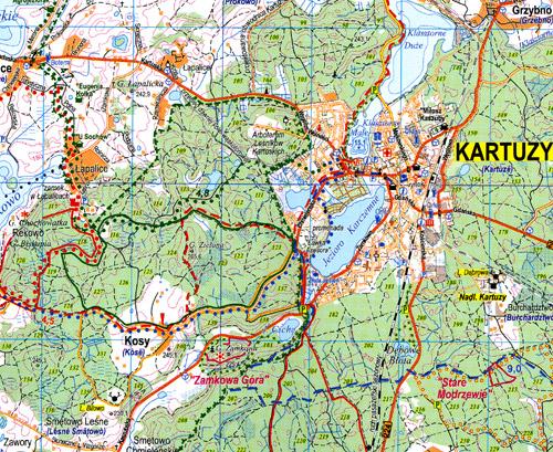 mapa Powiat kartuski