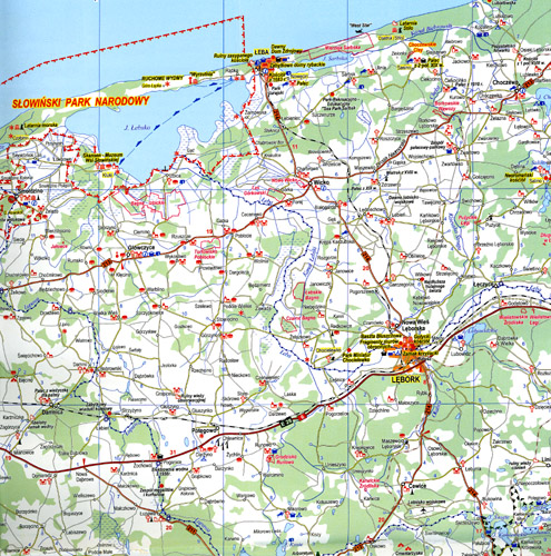 mapa atrakcji województwa pomorskiego