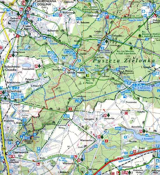 mapa turystyczna w skali 1:75 000